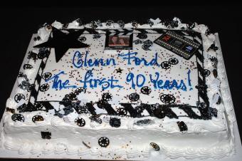 Actor Glenn Ford's 90th birthday cake