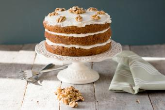Rustic Naked Carrot Cake