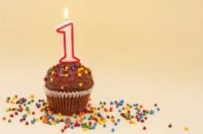 First birthday chocolate cupcake