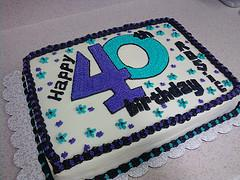 40th Birthday Cake Ideas Lovetoknow