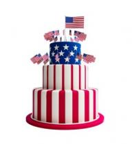 Three-Tier Flag Cake