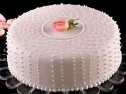 Sheet Cake With Wedding Topper