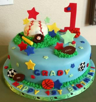 Super 1St Birthday Cakes Lovetoknow Funny Birthday Cards Online Alyptdamsfinfo