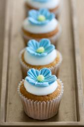 Use the proper fondant tools to make flowers.
