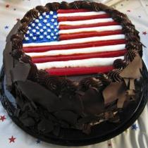 Chocolate 4th of July cake