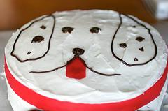Round Dog Cake Source A Shaped Birthday