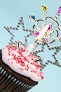 Cupcake with princess decorations