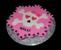 pink skull cake
