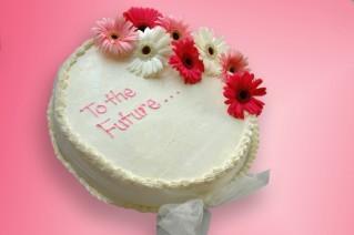 Retirement message cake