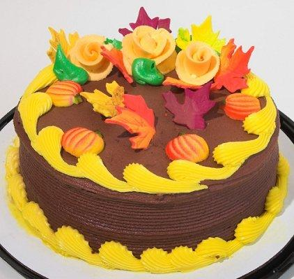 Fall cake designs lovetoknow for Autumn cake decoration