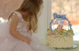 spring basket birthday cake