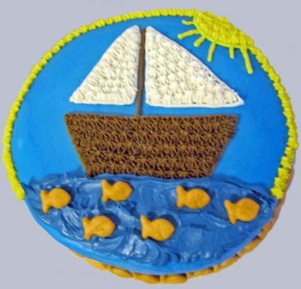 sailboat cake