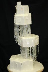 Towering cake by Chef Dana Herbert