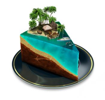 slice of island life beach cake