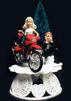 Kawasaki Motorcycle Wedding Cake Topper