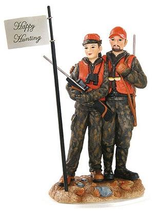 Deer Hunting Couple Wedding Cake Topper