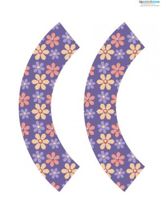 purple flower cupcake wrappers