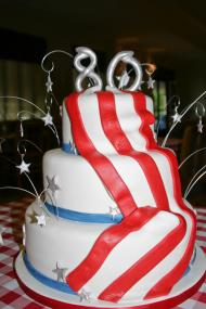 Draped flag cake Photo © KSKphotography