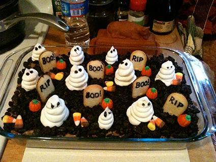 ghost dirt cake