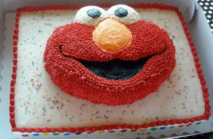 Elmo Cake Decorating