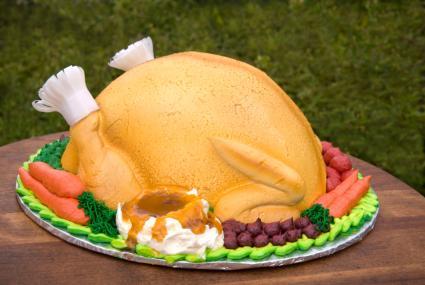 Terrific Thanksgiving Cakes Lovetoknow Personalised Birthday Cards Veneteletsinfo
