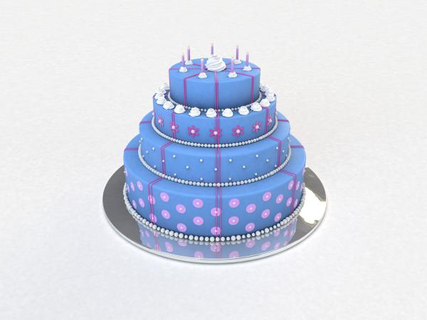 cake 3d graphic