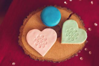 Stamped Fondant Valentine Cookies