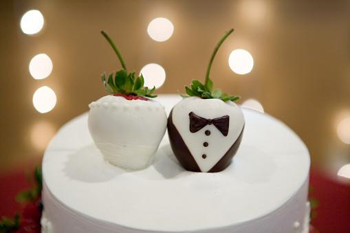 Wedding Cake Strawberry Topper
