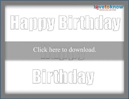 block Happy Birthday message