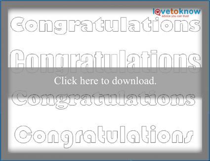 Congratulations pattern