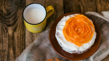 Orange Rose Carrot Cake
