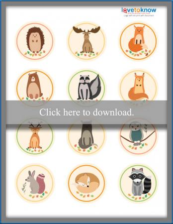 Click to print the woodland creatures toppers.