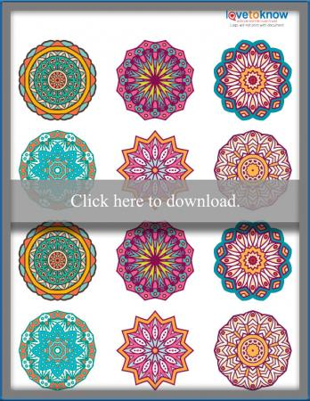 Click to print the mandala toppers.