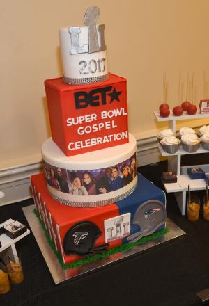 Super Bowl Gospel Celebration cake