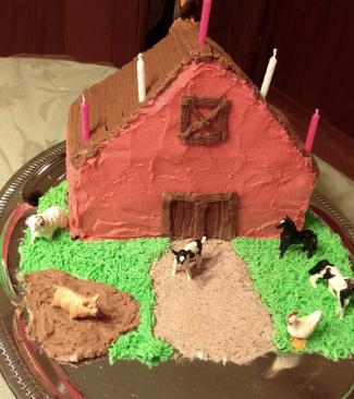 Easy Big Red Barn Cake