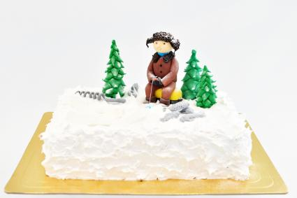 Ice fishing cake