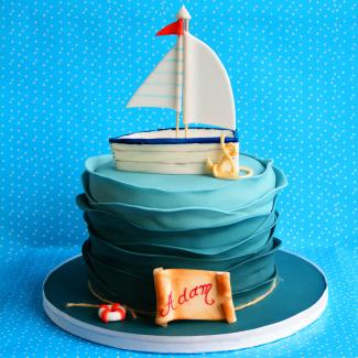 boating themed cake
