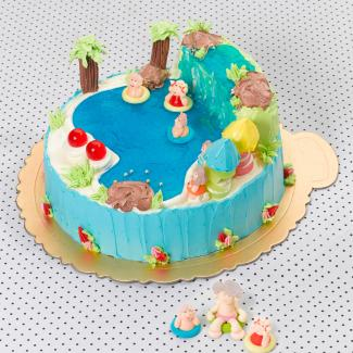 senior citizens swimming cake