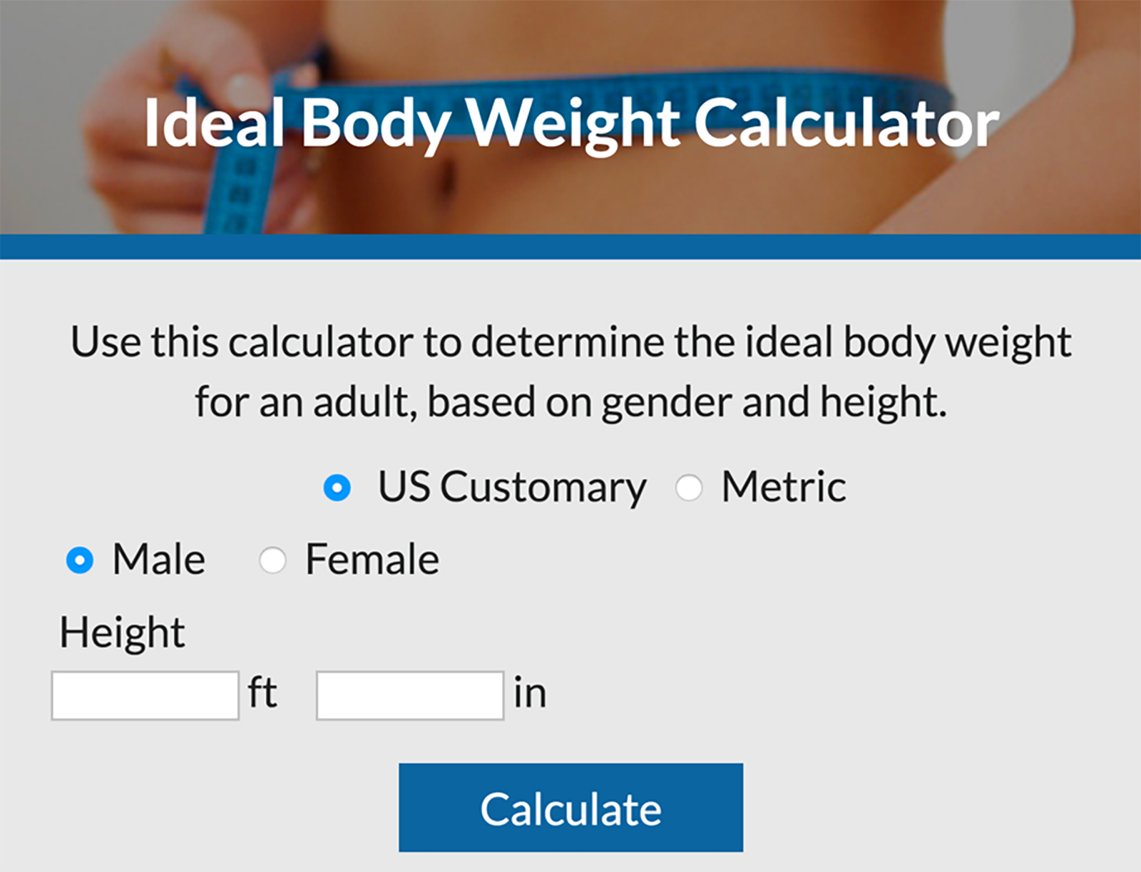 Ideal Body Weight Calculator Lovetoknow