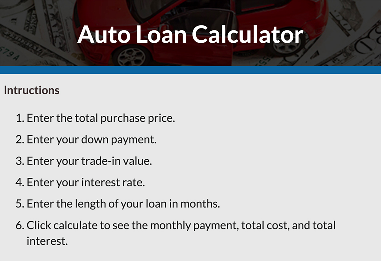 Auto loan calculator financial plus credit union.