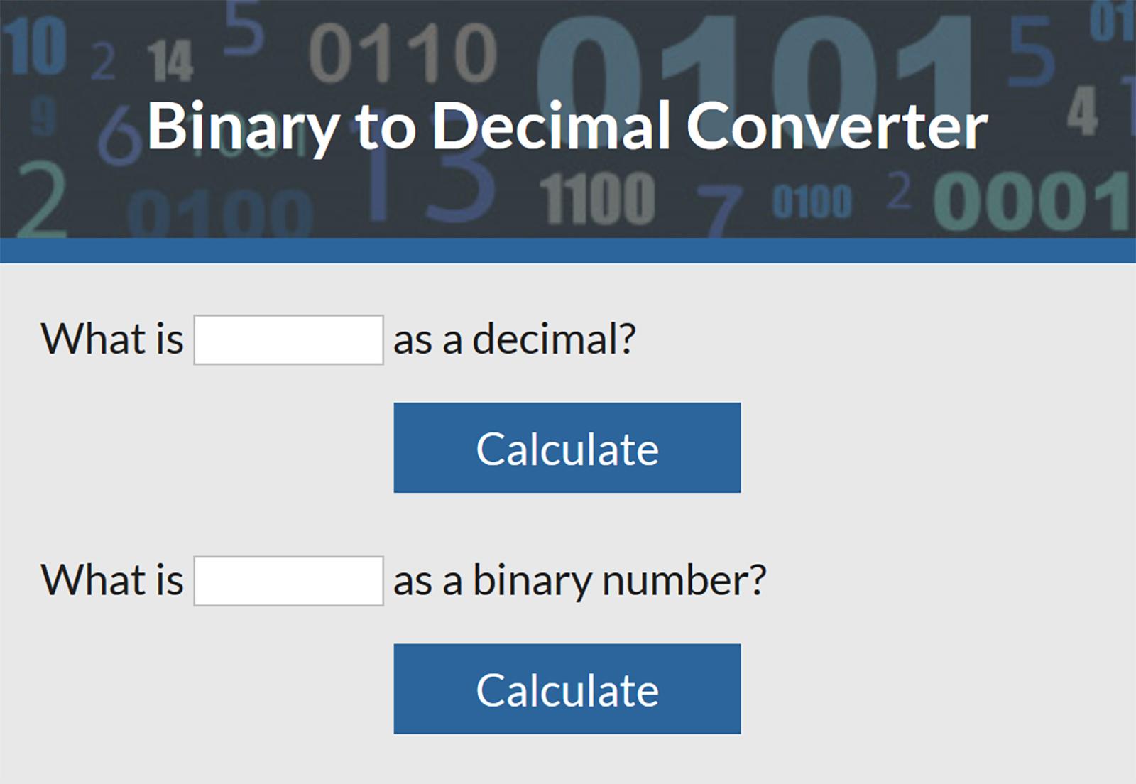 Binary to decimal converter lovetoknow nvjuhfo Images