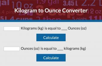 Convert Kilograms to Ounces