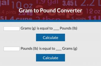 Convert Grams to Pounds