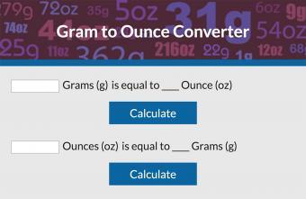 Convert Grams to Ounces