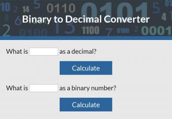Binary to Decimal Converter
