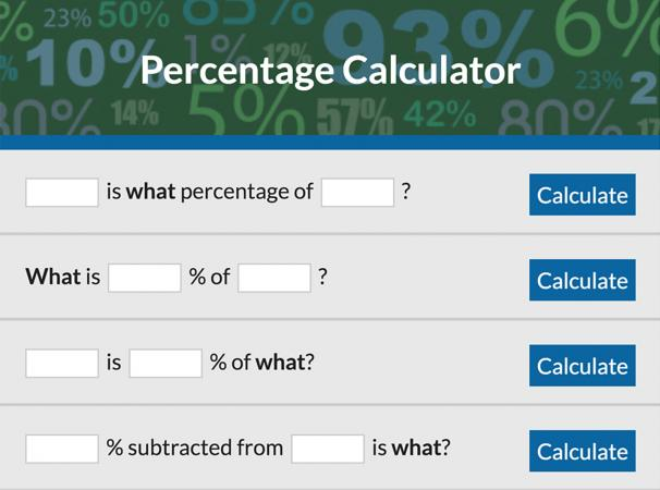 how to get percentage in calculator