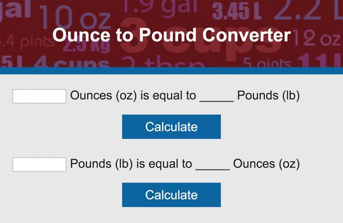 Convert Ounces to Pounds | LoveToKnow