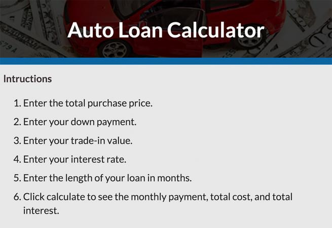Car Loan Calculator | LoveToKnow