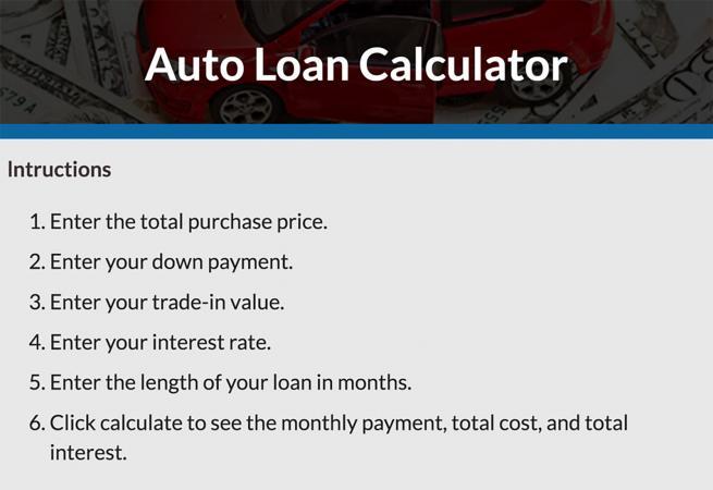 Car Loan Calculator  Lovetoknow