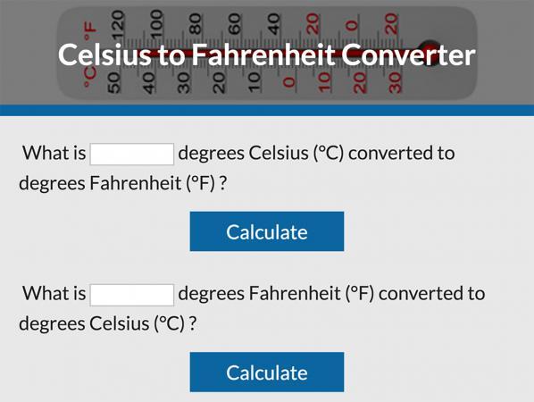 Celsius To Fahrenheit Converter Lovetoknow